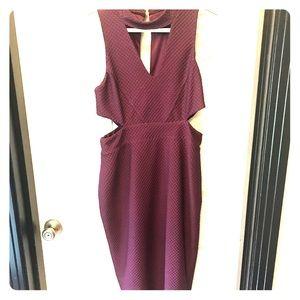 Asos purple cut-out midi dress
